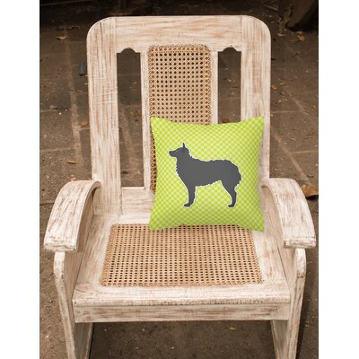 Croatian Sheepdog Indoor/Outdoor Throw Pillow Size: 14 H x 14 W x 3 D, Color: Green