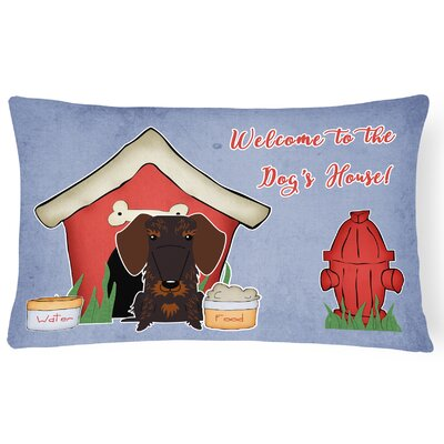 Wildlife Dog House Soild Rectangle Indoor/Outdoor Lumbar Pillow Color: Chocolate