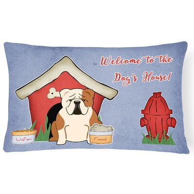 Dog House Indoor/Outdoor Lumbar Pillow Color: Fawn/White