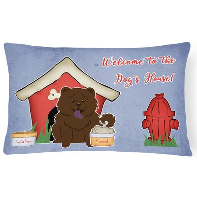 Dog House Soild Indoor/Outdoor Graphic Print Lumbar Pillow Color: Chocolate