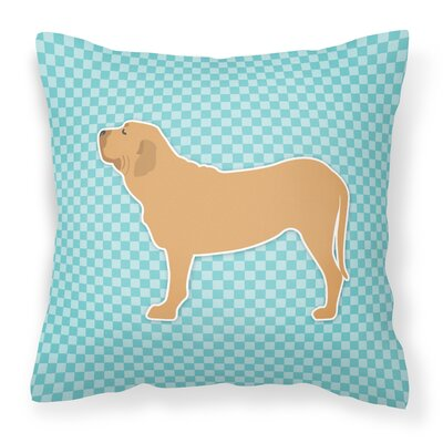 Fila Brasileiro Indoor/Outdoor Throw Pillow Size: 14 H x 14 H x 3 D, Color: Blue