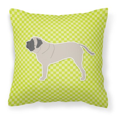 English Mastiff Indoor/Outdoor Throw Pillow Size: 18 H x 18 H x 3 D, Color: Green