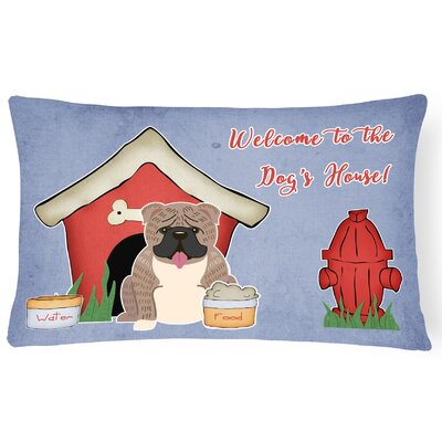 Dog House Indoor/Outdoor Lumbar Pillow Color: Gray