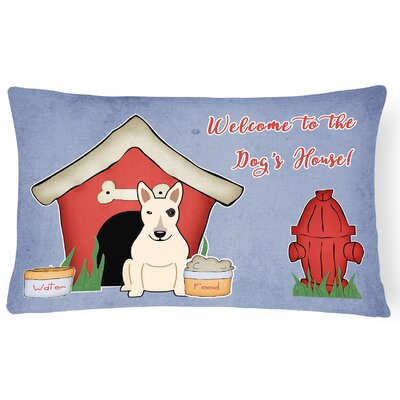 Wildlife Dog House Indoor/Outdoor Graphic Print Lumbar Pillow Color: White