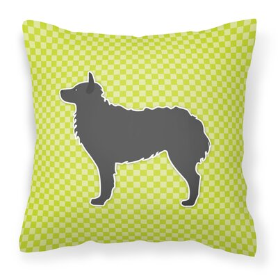 Croatian Sheepdog Indoor/Outdoor Throw Pillow Size: 18 H x 18 W x 3 D, Color: Green