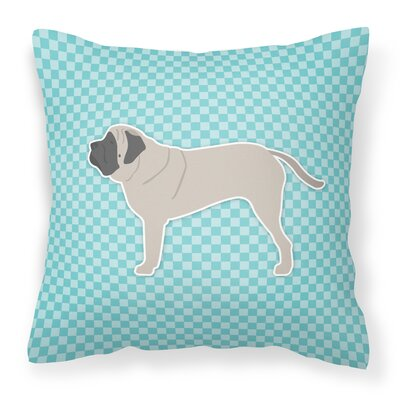 English Mastiff Indoor/Outdoor Throw Pillow Size: 14 H x 14 H x 3 D, Color: Blue
