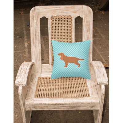 English Cocker Spaniel Indoor/Outdoor Throw Pillow Size: 18 H x 18 W x 3 D, Color: Blue