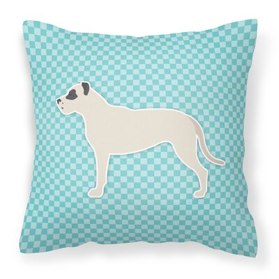 Dogo Argentino Indoor/Outdoor Throw Pillow Size: 14 H x 14 H x 3 D, Color: Blue