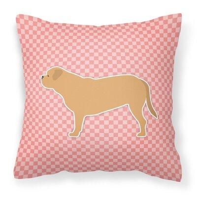 Dogue De Bordeaux Indoor/Outdoor Throw Pillow Size: 18 H x 18 H x 3 D, Color: Pink