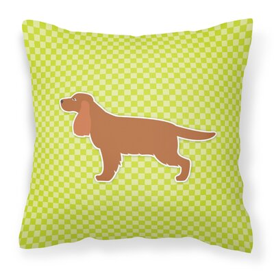 English Cocker Spaniel Indoor/Outdoor Throw Pillow Color: Green, Size: 18 H x 18 W x 3 D