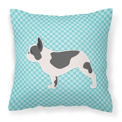 French Bulldog Indoor/Outdoor Throw Pillow Size: 14 H x 14 H x 3 D, Color: Blue
