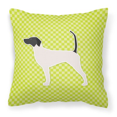 English Pointer Indoor/Outdoor Throw Pillow Size: 14 H x 14 H x 3 D, Color: Green