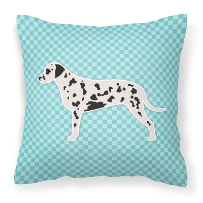 Dalmatian Indoor/Outdoor Throw Pillow Size: 14 H x 14 W x 3 D, Color: Blue