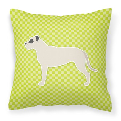 Dogo Argentino Indoor/Outdoor Throw Pillow Color: Green, Size: 14 H x 14 H x 3 D