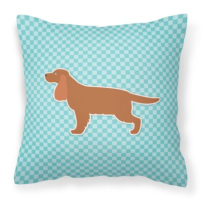 English Cocker Spaniel Indoor/Outdoor Throw Pillow Size: 14 H x 14 W x 3 D, Color: Blue