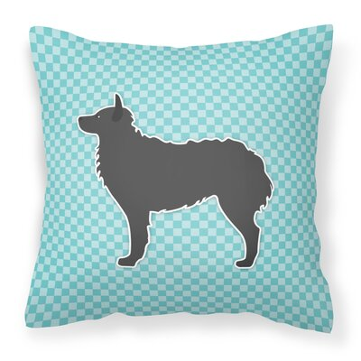 Croatian Sheepdog Indoor/Outdoor Throw Pillow Size: 14 H x 14 W x 3 D, Color: Blue