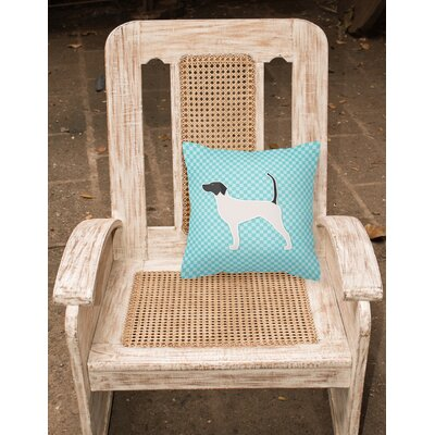 English Pointer Indoor/Outdoor Throw Pillow Size: 14 H x 14 H x 3 D, Color: Blue