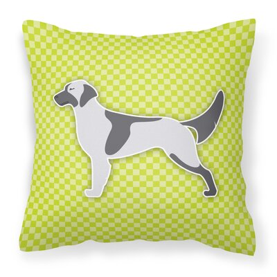 English Setter Indoor/Outdoor Throw Pillow Size: 14 H x 14 H x 3 D, Color: Green