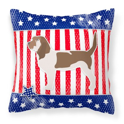 Patriotic Indoor/Outdoor Throw Pillow Size: 14