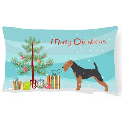 Welsh Terrier Indoor/Outdoor Lumbar Pillow