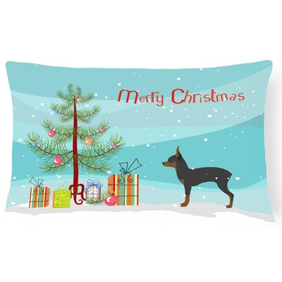 Toy Fox Terrier Tree Indoor/Outdoor Lumbar Pillow