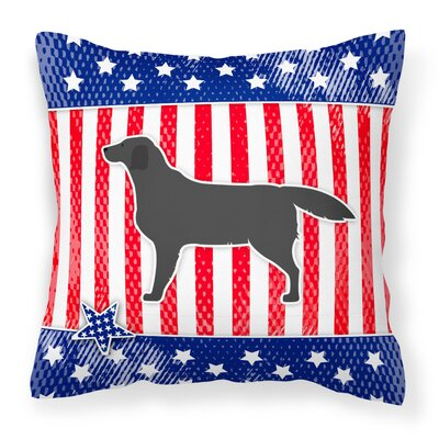 Patriotic USA Labrador Retriever Indoor/Outdoor Throw Pillow Size: 14 H x 14 W x 3 D