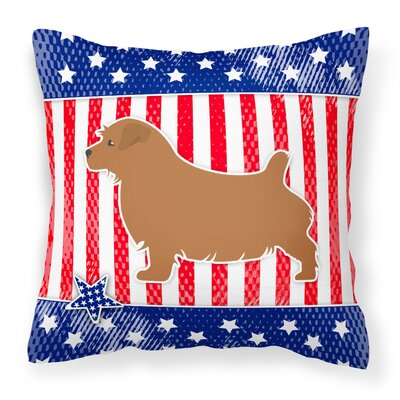 Patriotic USA Norfolk Terrier Indoor/Outdoor Throw Pillow Size: 14 H x 14 W x 3 D