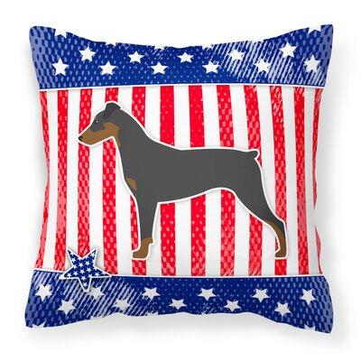 Patriotic USA German Pinscher Indoor/Outdoor Throw Pillow Size: 18