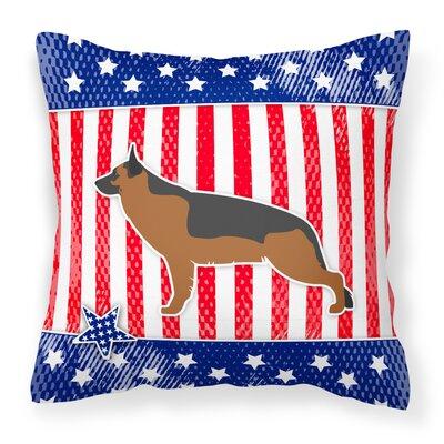 Patriotic USA German Shepherd Indoor/Outdoor Throw Pillow Size: 14 H x 14 W x 3 D