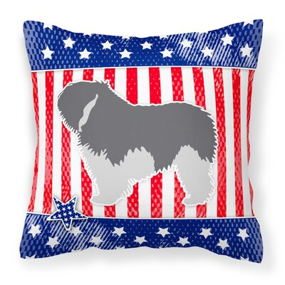 Patriotic Dog Indoor/Outdoor Throw Pillow Size: 14 H x 14 W x 3 D