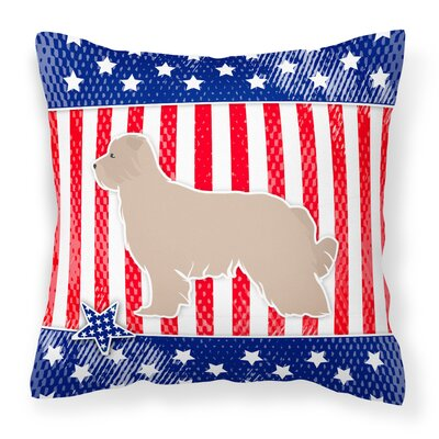 Patriotic USA Pyrenean Shepherd Indoor/Outdoor Throw Pillow Size: 18 H x 18 W x 3 D
