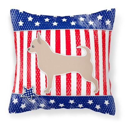 Patriotic Square Indoor/Outdoor Throw Pillow Size: 18