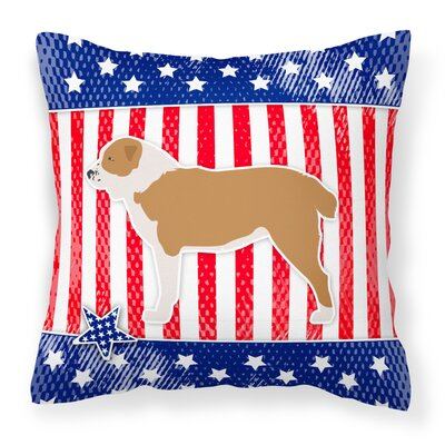Patriotic Indoor/Outdoor Throw Pillow Size: 18 H x 18 W x 3 D