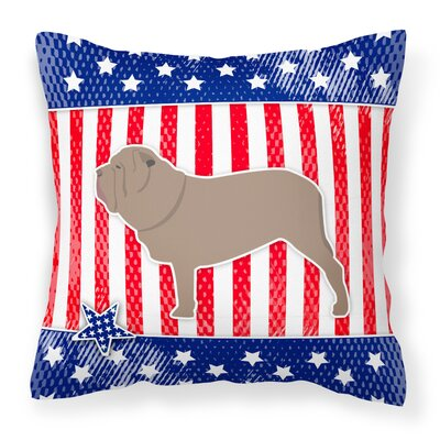 Patriotic Contemporary Square Indoor/Outdoor Throw Pillow Size: 14 H x 14 W x 3 D