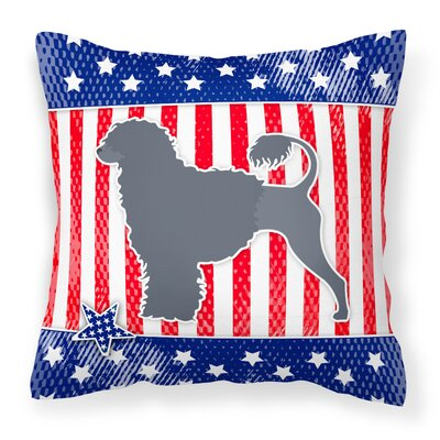 Patriotic Contemporary Solid Indoor/Outdoor Throw Pillow Size: 14 H x 14 W x 3 D