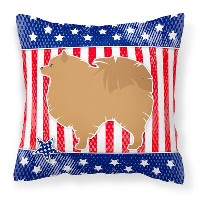 Patriotic USA Indoor/Outdoor Throw Pillow Size: 14 H x 14 W x 3 D