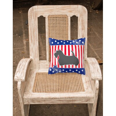 Patriotic Contemporary Fabric Indoor/Outdoor Throw Pillow Size: 14 H x 14 W x 3 D