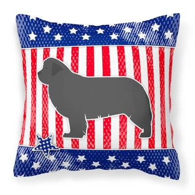 Patriotic Blue/Gray Square Indoor/Outdoor Throw Pillow Size: 18 H x 18 W x 3 D