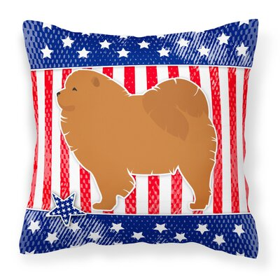 Patriotic Solid Indoor/Outdoor Throw Pillow Size: 18