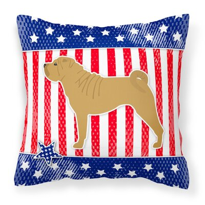 Patriotic Modern Indoor/Outdoor Throw Pillow Size: 14 H x 14 W x 3 D