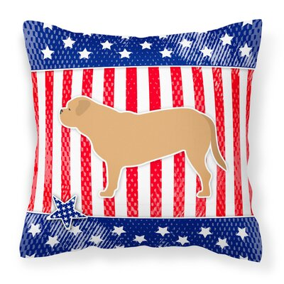 USA Patriotic Indoor/Outdoor Throw Pillow Size: 14 H x 14 W x 3 D