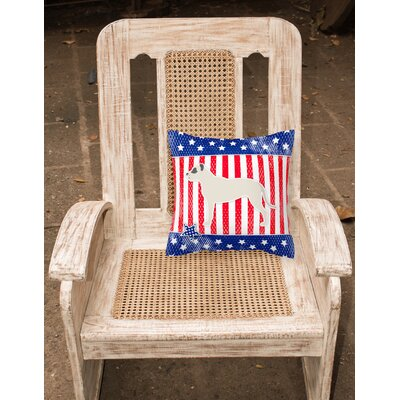 Patriotic Modern Square Indoor/Outdoor Throw Pillow Size: 18 H x 18 W x 3 D