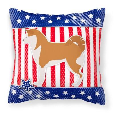 Patriotic Indoor/Outdoor Throw Pillow Size: 14 H x 14 W x 3 D