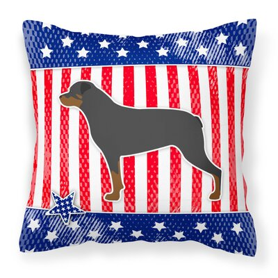 Patriotic Indoor/Outdoor Heavyweight Canvas Throw Pillow Size: 18 H x 18 W x 3 D