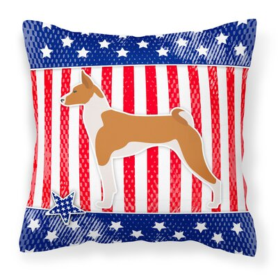 Patriotic Neutral Indoor/Outdoor Throw Pillow Size: 14 H x 14 W x 3 D