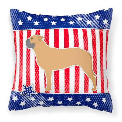 Patriotic Indoor/Outdoor Thrown Pillow Size: 18 H x 18 W x 3 D