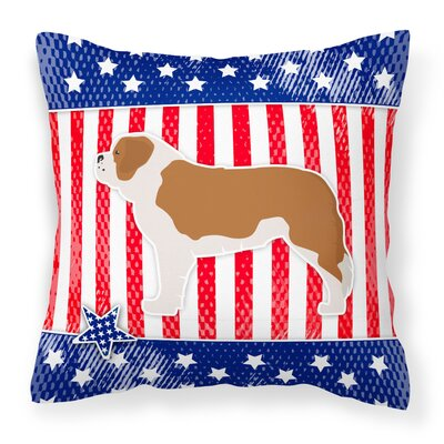Patriotic Blue/Red Neutral Indoor/Outdoor Throw Pillow Size: 18 H x 18 W x 3 D