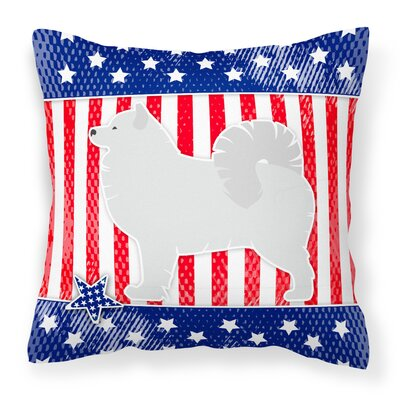 Patriotic Square Fabric Indoor/Outdoor Throw Pillow Size: 18 H x 18 W x 3 D