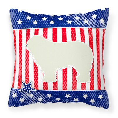 Patriotic Solid Pattern Indoor/Outdoor Throw Pillow Size: 18 H x 18 W x 3 D