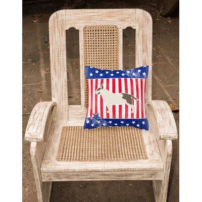 Patriotic Modern Neutral Indoor/Outdoor Throw Pillow Size: 14 H x 14 W x 3 D